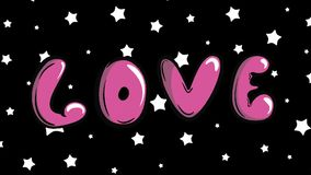 Rörande förälskelse och vita stjärnor lager videofilmer