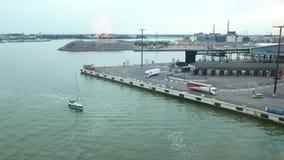 Rörande porthav för skepp lager videofilmer