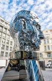 Rörande staty av Franz Kafka i Prague Fotografering för Bildbyråer