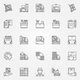 Rörande symboler för hus eller för kontor vektor illustrationer