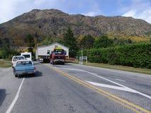 Rörande trähus i Nya Zeeland Arkivbilder