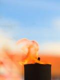 Rörelse av brandflamman Royaltyfri Fotografi