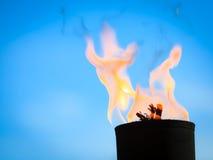 Rörelse av brandflamman Arkivbilder