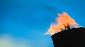 Rörelse av brandflamman Arkivfoto