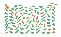Rörelse av en liten fågel i lövverket på en vit bakgrund Arkivbilder