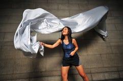 rörelse för 9 flicka Fotografering för Bildbyråer