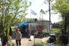 Rörelse för släpläger av försvararna av den Khimki skogen Arkivfoto
