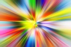 Rörelse för snabb hastighet för färgrik acceleration toppen arkivbild