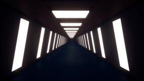 Rörelse inom en lång korridor royaltyfri illustrationer