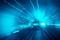Rörelse som är snabb i tunnel Fotografering för Bildbyråer