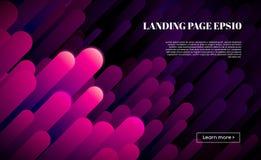 Rörelsebakgrundsdesign För mallvektor för abstrakt färgrik affisch geometrisk bakgrund Dynamiska beståndsdelar för minsta begrepp vektor illustrationer