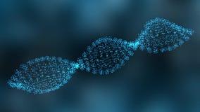 Rörelsediagram av den roterande DNAtråden arkivfilmer