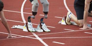 Rörelsehindrad person i sport Arkivbild