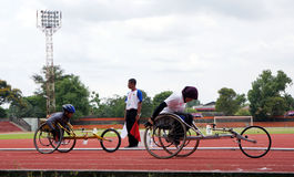 Rörelsehindrade athlets Royaltyfri Fotografi