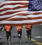 Rörelsehindrade maratonlöpare Arkivfoto