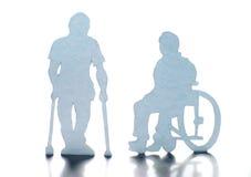 Rörelsehindrat folk Fotografering för Bildbyråer