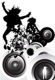 rörelsemusik vektor illustrationer