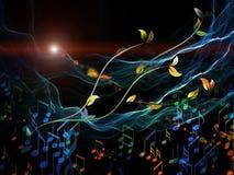 rörelsemusik Arkivbild