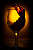 Rörelsen av vin Arkivfoto