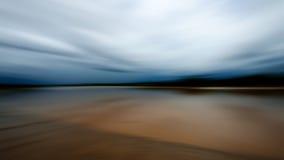 Rörelsesuddighet på floden Fotografering för Bildbyråer