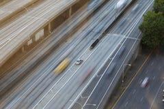 Rörelsesuddighet på motorväg Royaltyfria Bilder