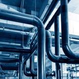 Rörledning för industriell zon Fotografering för Bildbyråer