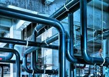 Rörledning för industriell zon Arkivbild