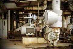 Rörledning för industriell zon Arkivfoto
