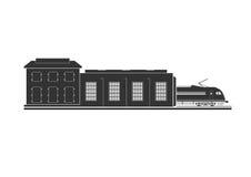 Rörlig bussgarage vektor illustrationer