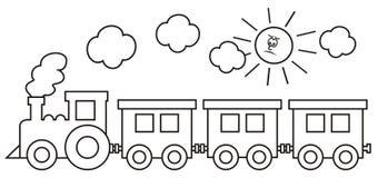 rörliga ångavagnar Royaltyfri Foto