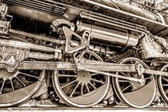 rörliga gammala stänger ångar hjulet Arkivbilder
