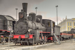 rörliga serier för ryss för järnväg för moscow museum o ångar Arkivbild