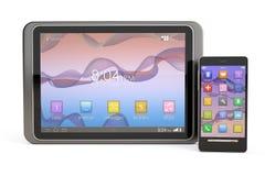 Isolerad Smartphone och TabletPC Royaltyfria Bilder