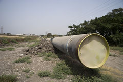 Rörlinje naturgas Arkivfoto