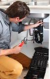 rörmokare Fotografering för Bildbyråer