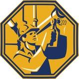 Rörmokare för arbetare för Pipefitter underhållsgas royaltyfri illustrationer