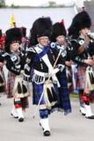 Rörmusikband på Newtonmore höglands- lekar Arkivbild