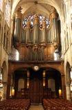 Rörorgan av kyrkan av St Severin i Paris royaltyfri fotografi