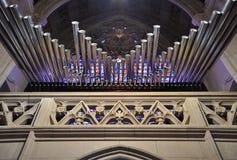 Rörorgan i den Michigan kyrkan Fotografering för Bildbyråer