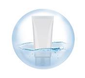Rörskum i bubbla Royaltyfri Fotografi