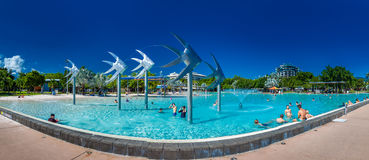 RÖSEN AUSTRALIEN - 27 MARS 2016 Tropisk simninglagun på t Arkivbild