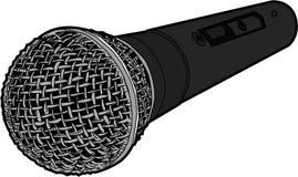 röst- mikrofon Arkivfoto