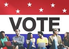 Rösta begreppet för demokrati för beslutet för röstningvalet det kloka arkivbild