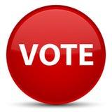Rösta den speciala röda runda knappen Arkivfoto