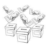 Rösta eller röstningen Arkivbilder