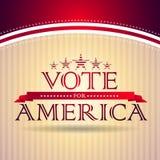 Rösta för Amerika Arkivbilder