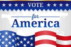 Rösta för Amerika bakgrund Royaltyfri Illustrationer