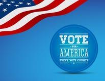 Rösta för Amerika tappningaffisch Arkivbilder