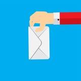 Rösta för begreppsvektor för hand den plana illustrationen Royaltyfri Foto