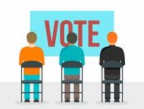 Rösta folkbegreppsbakgrund, plan stil stock illustrationer